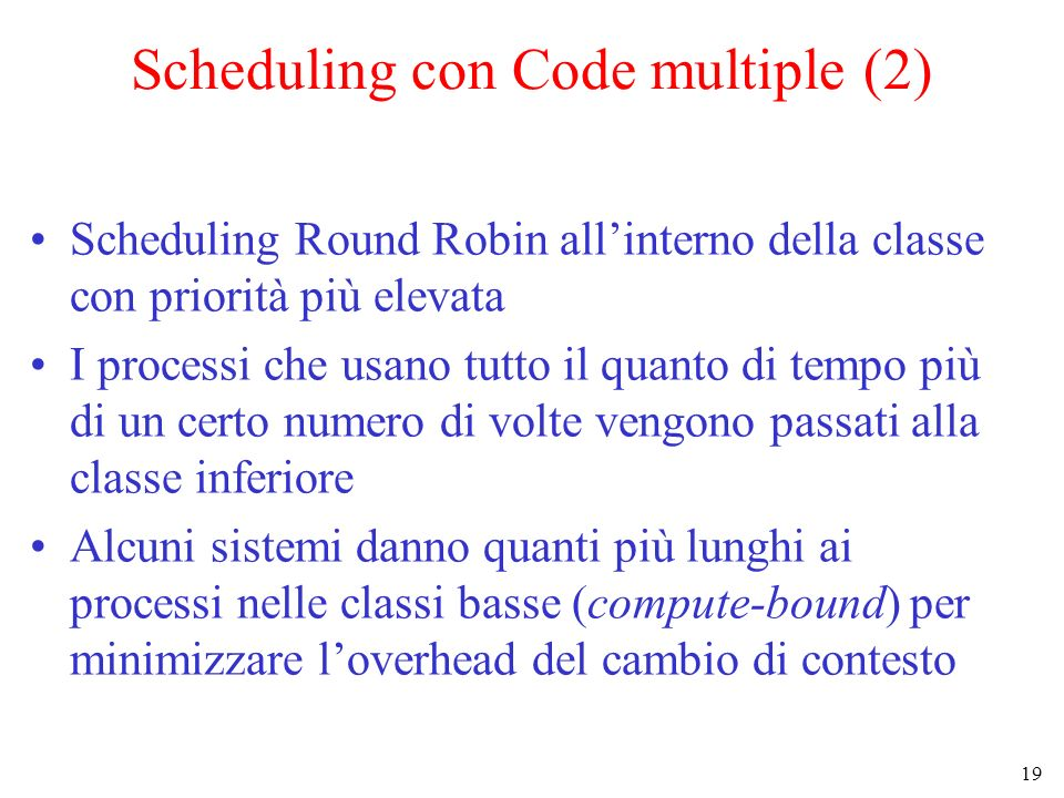 Scheduling con Code multiple (2)