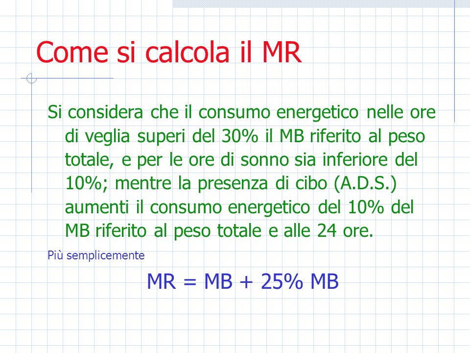 Come si calcola il MR MR = MB + 25% MB