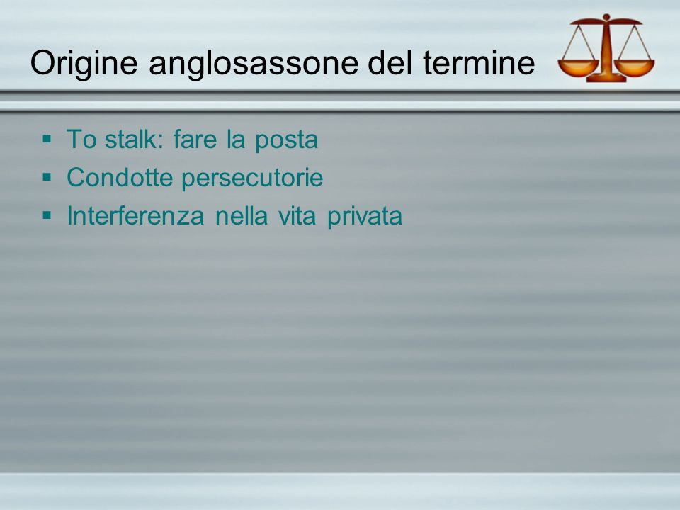 Origine anglosassone del termine