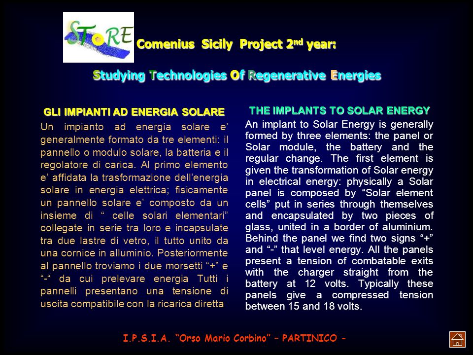 THE IMPLANTS TO SOLAR ENERGY