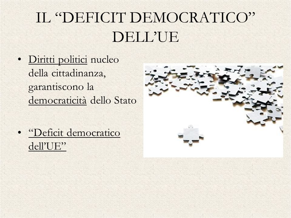 IL DEFICIT DEMOCRATICO DELL'UE