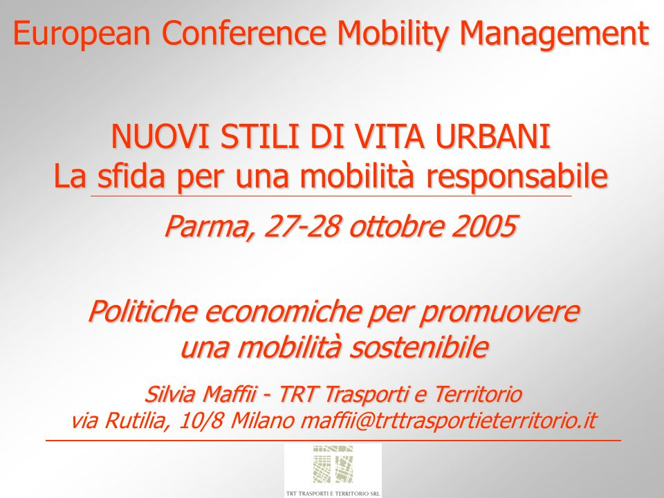 European Conference Mobility Management