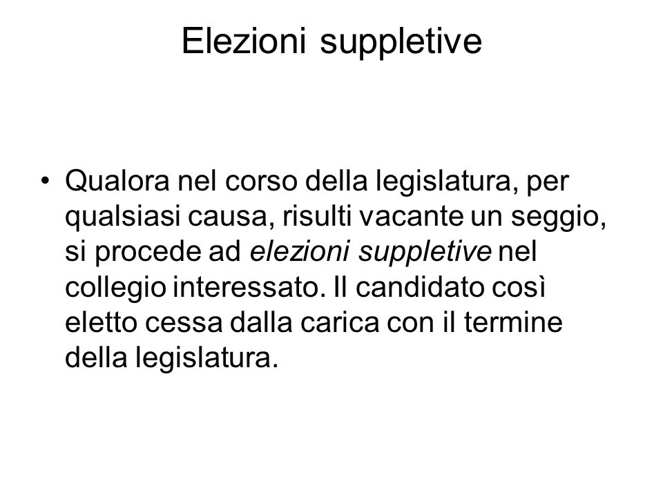 Elezioni suppletive