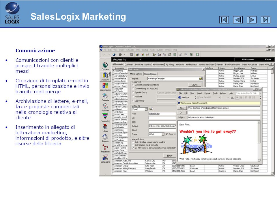 SalesLogix Marketing Comunicazione
