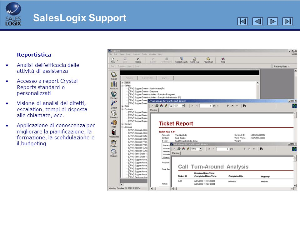SalesLogix Support Reportistica
