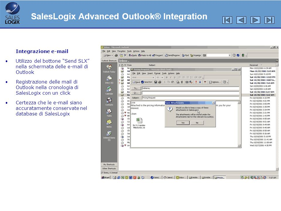 SalesLogix Advanced Outlook® Integration