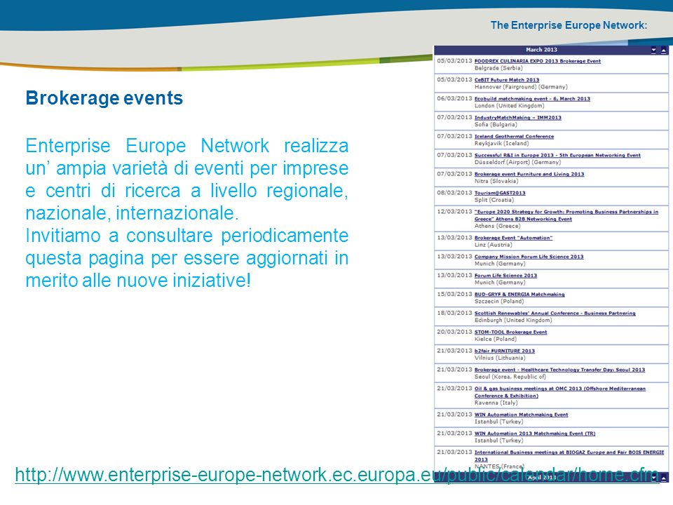 Brokerage events