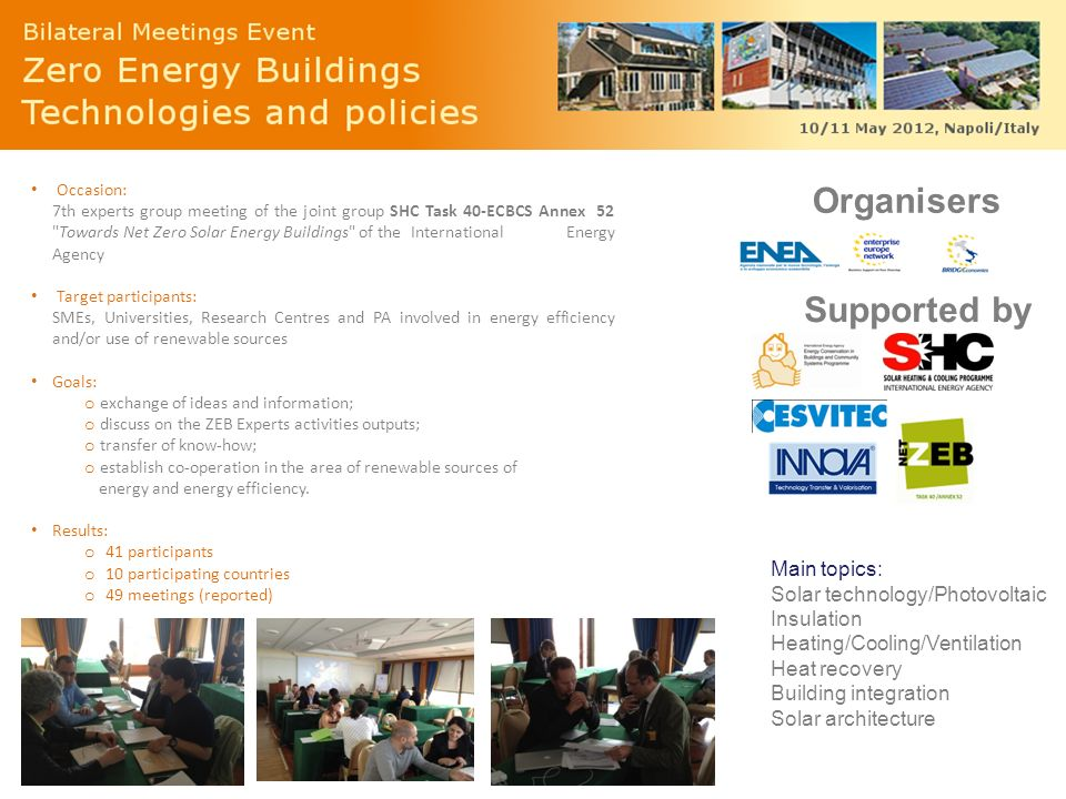 Organisers Supported by Main topics: Solar technology/Photovoltaic