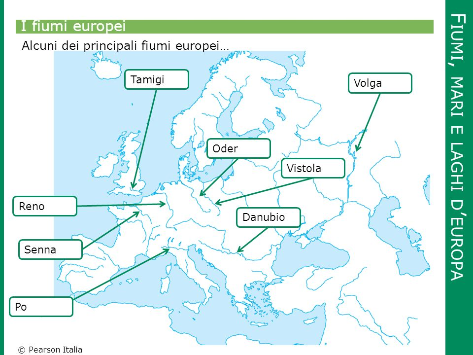 Europa Cartina Muta Fiumi Pieterduisenberg