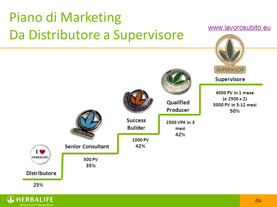 Piano di Marketing Da Distributore a Supervisore