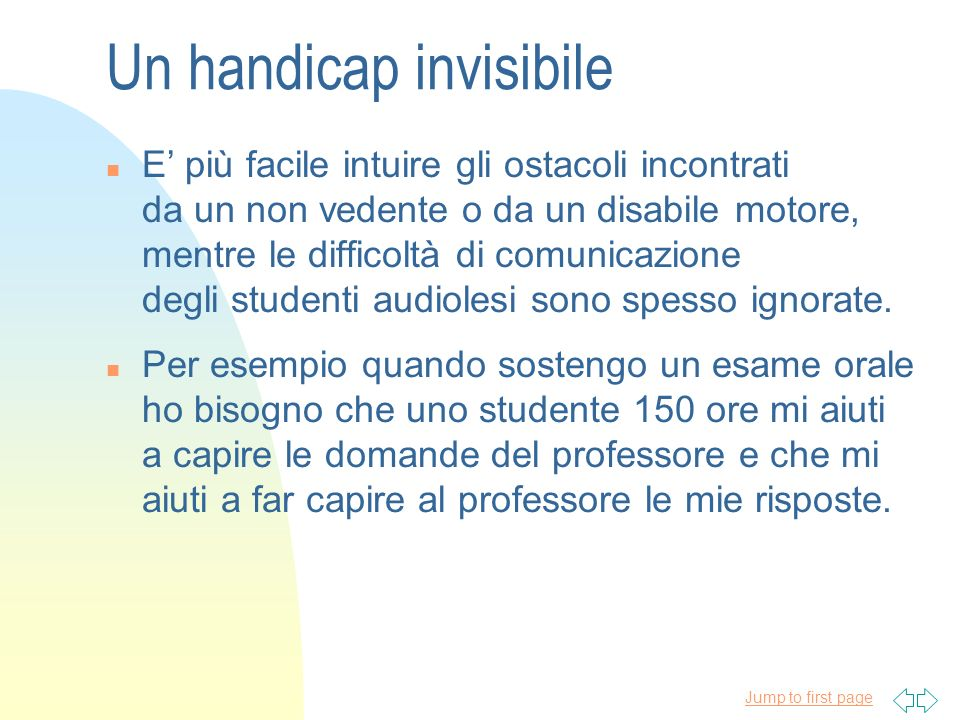 Un handicap invisibile