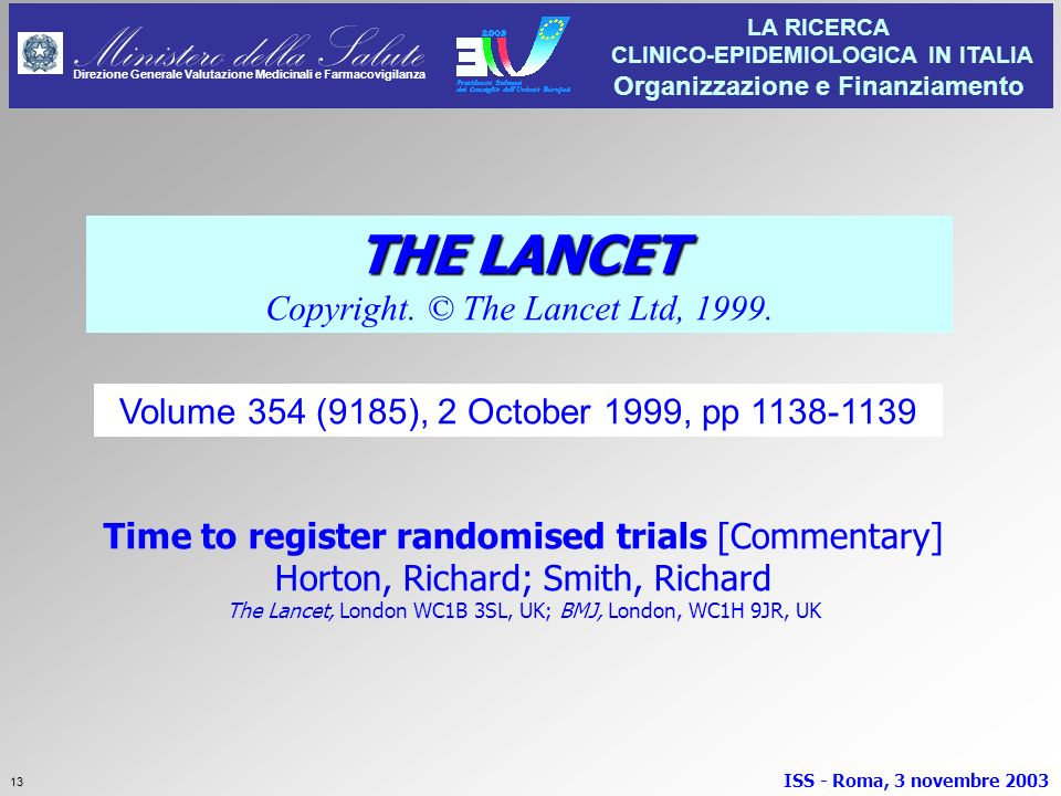 THE LANCET Copyright. © The Lancet Ltd, 1999.