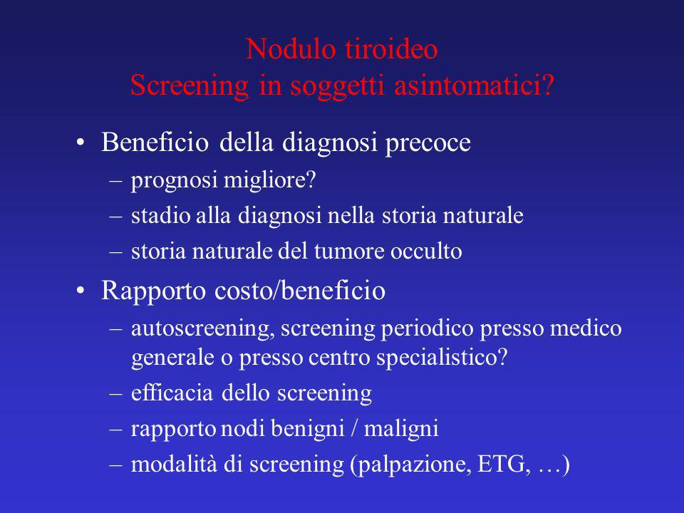 Nodulo tiroideo Screening in soggetti asintomatici