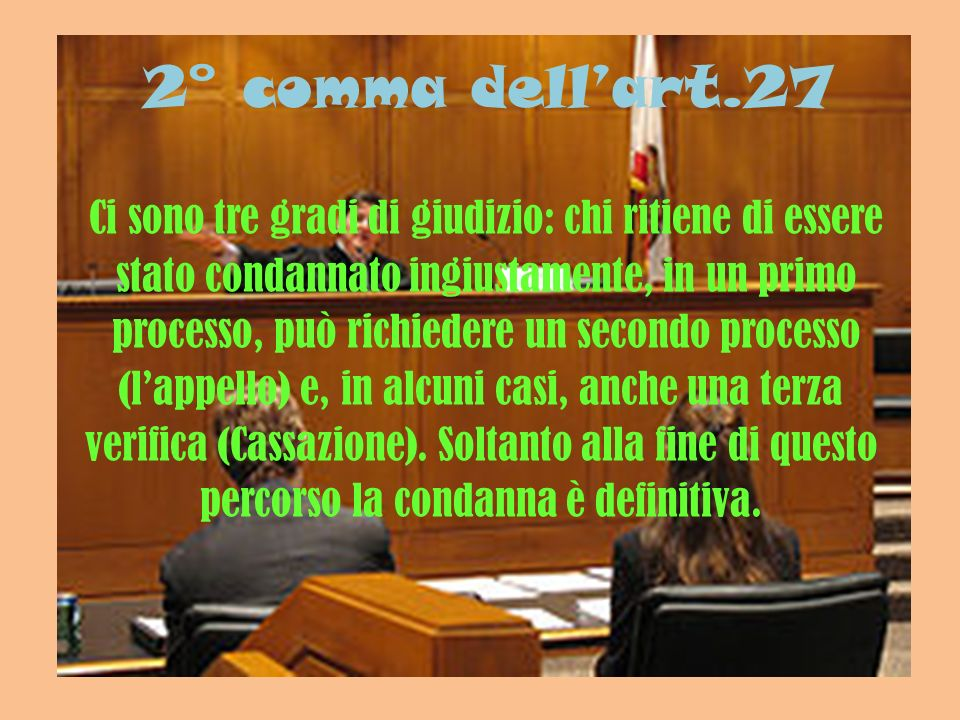 2° comma dell'art.27