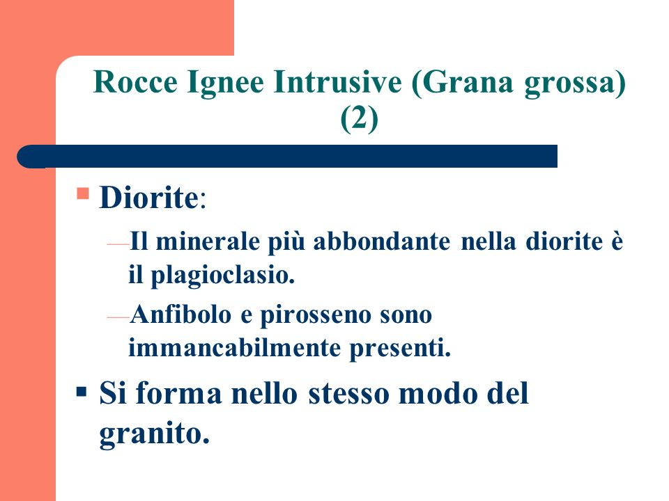 Rocce Ignee Intrusive (Grana grossa) (2)