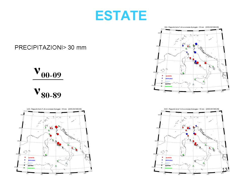 ESTATE PRECIPITAZIONI> 30 mm