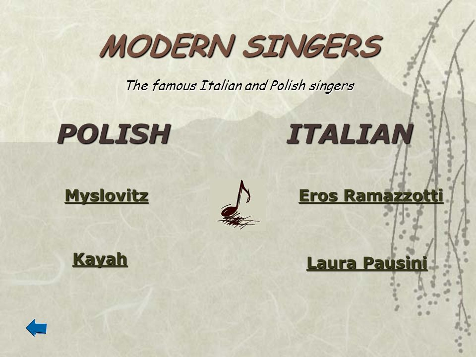 The famous Italian and Polish singers