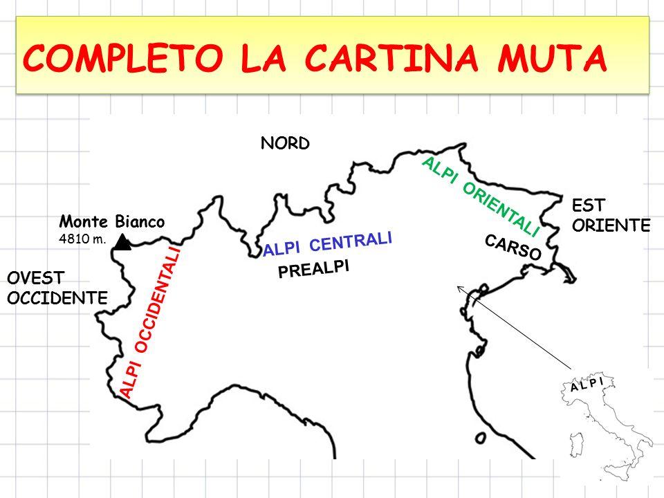 Cartina Muta Delle Alpi.Come Studiare Una Lezione Di Geografia Le Alpi Ppt Video Online Scaricare