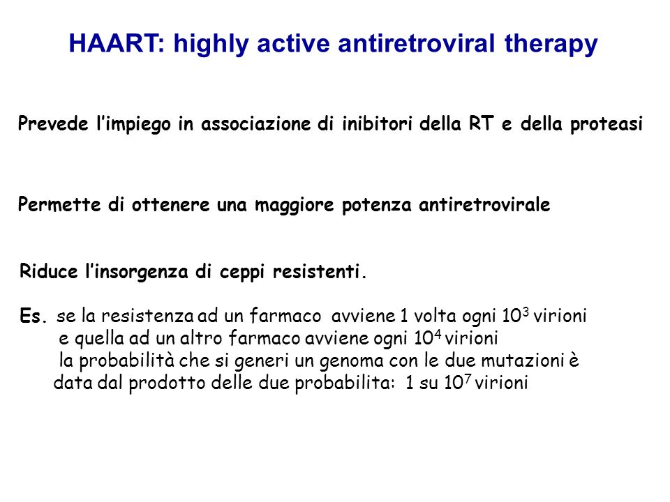 HAART: highly active antiretroviral therapy