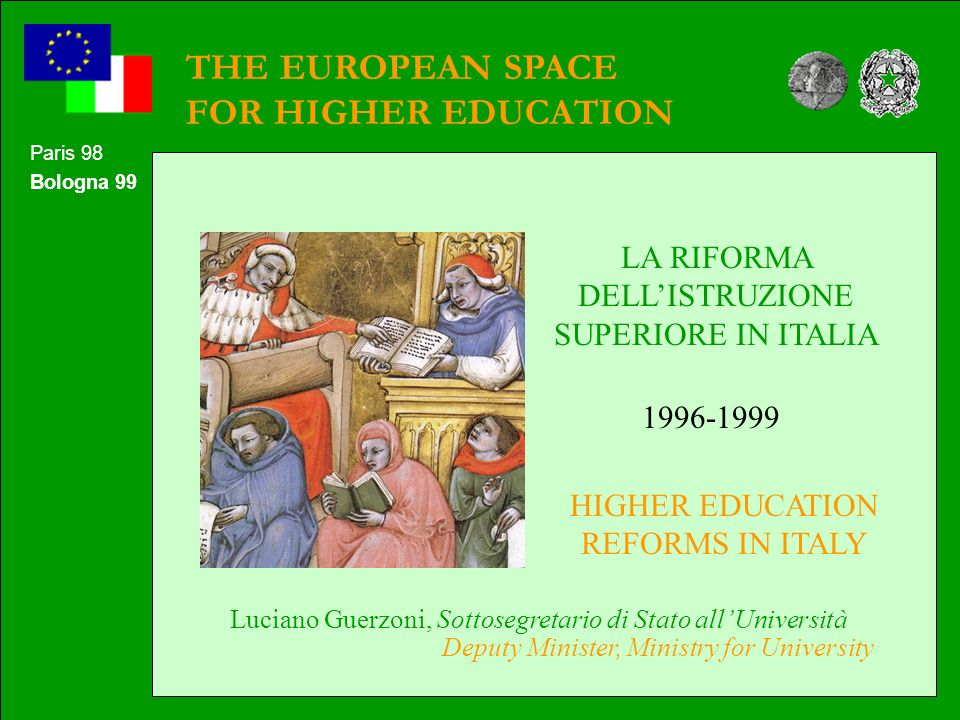THE EUROPEAN SPACE FOR HIGHER EDUCATION
