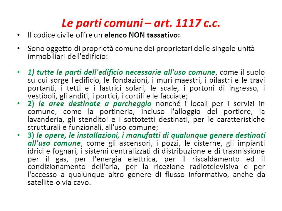 Le Parti Comuni U2013 Art. 1117 C.c. Il Codice Civile Offre Un Elenco NON  Tassativo