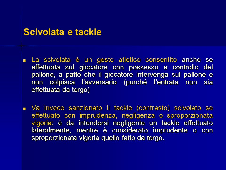 Scivolata e tackle