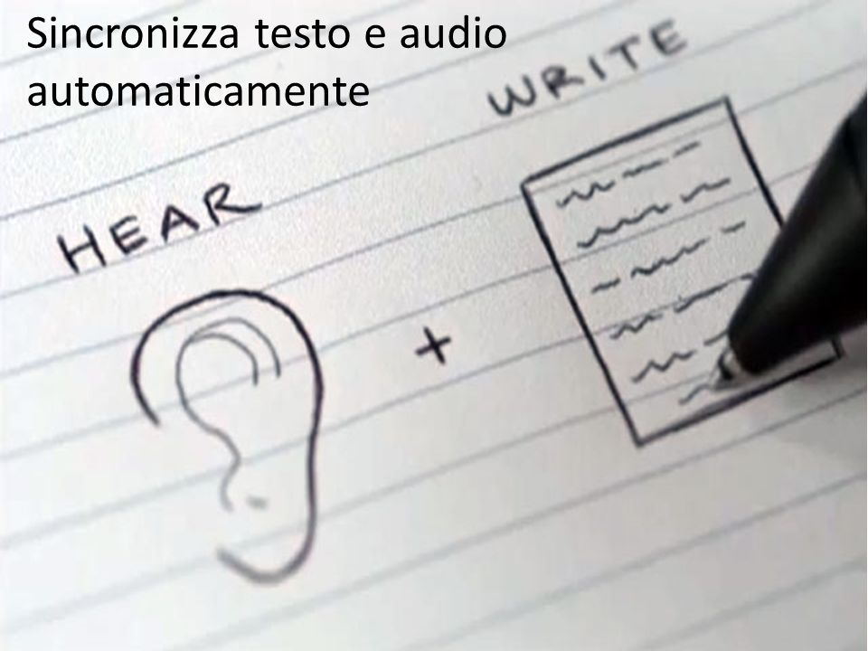 Sincronizza testo e audio automaticamente