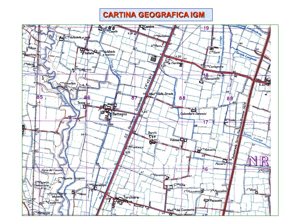 CARTINA GEOGRAFICA IGM