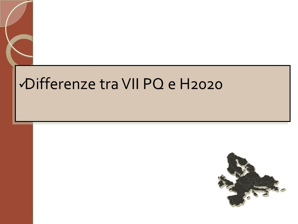 Differenze tra VII PQ e H2020