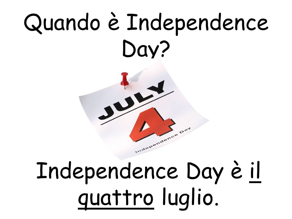 Quando è Independence Day