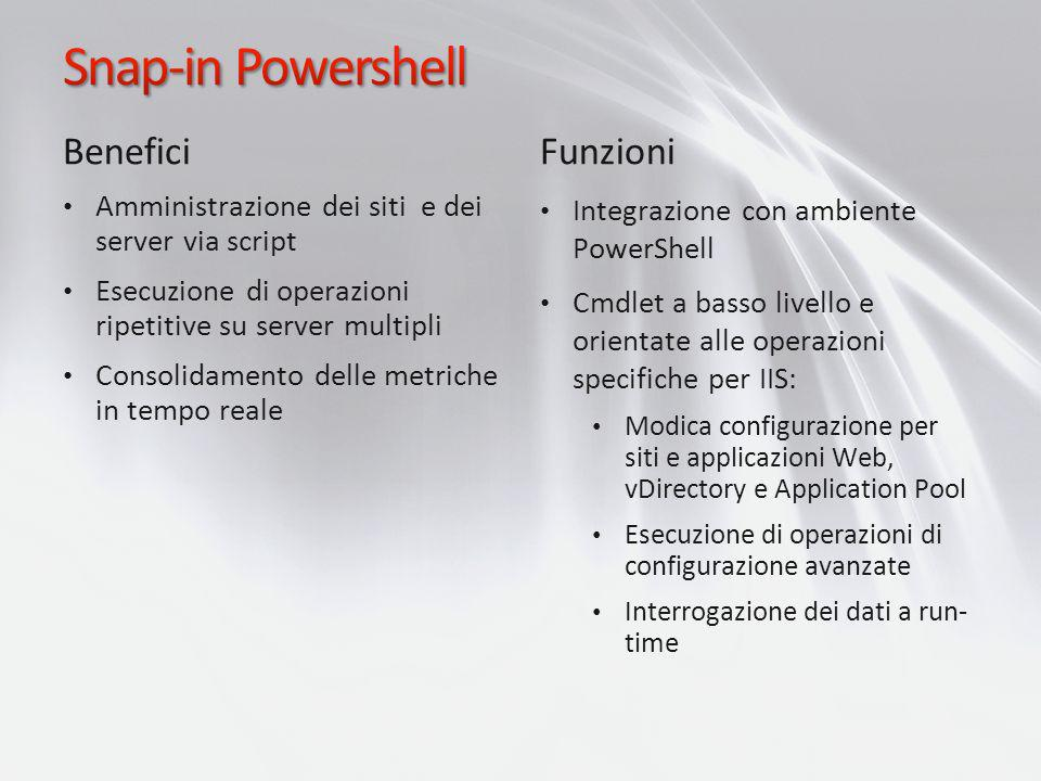 Snap-in Powershell Benefici Funzioni