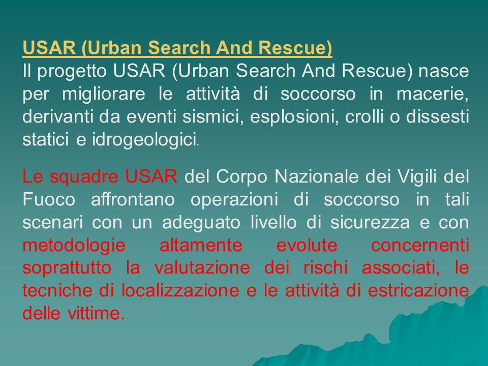 USAR (Urban Search And Rescue)