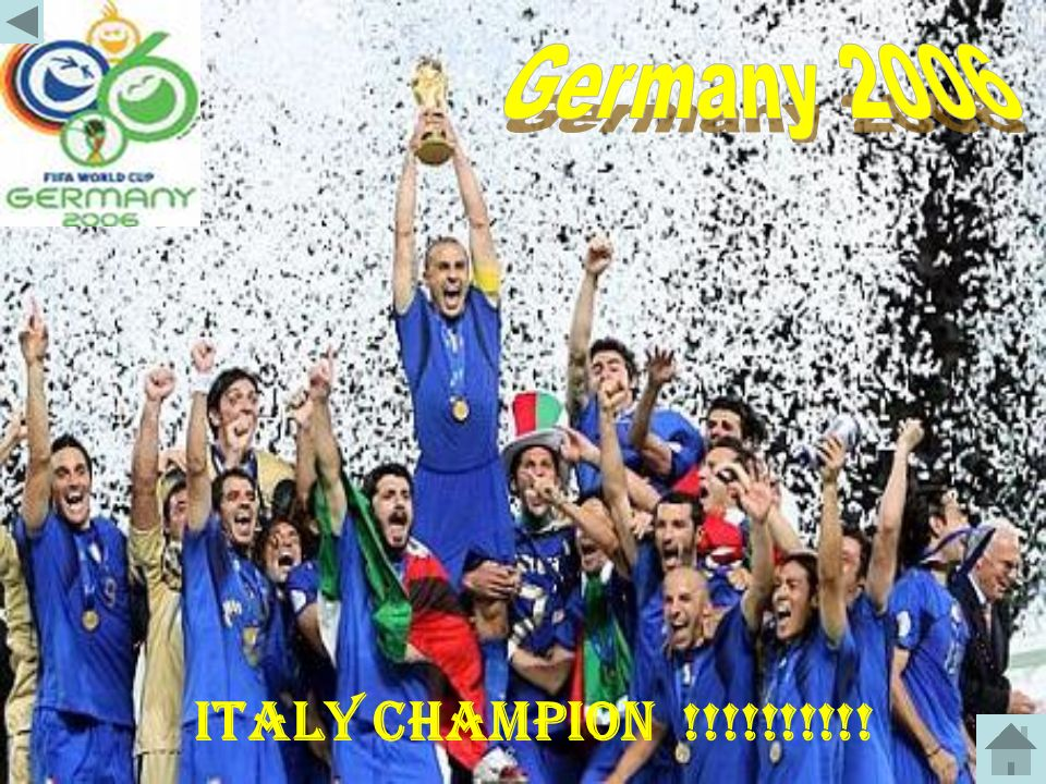 Germany 2006 ITALY CHAMPION !!!!!!!!!!
