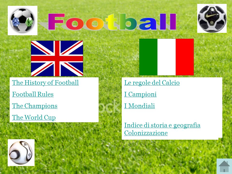 Football The History of Football Football Rules The Champions