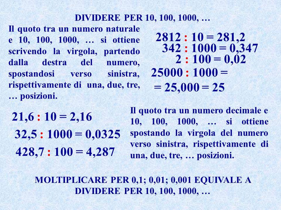 Operazioni Con Numeri Naturali E Numeri Decimali Ppt Video Online