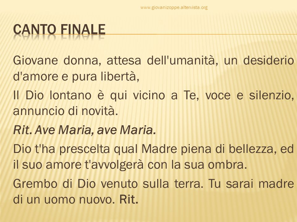 CANTO FINALE.