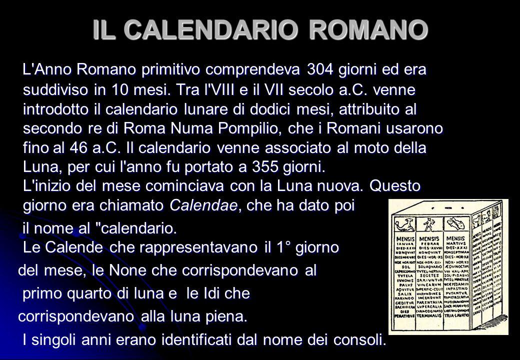 Il Calendario Romano.Introduzione Il Calendario Nasce Dall Esigenza Sentita Fin