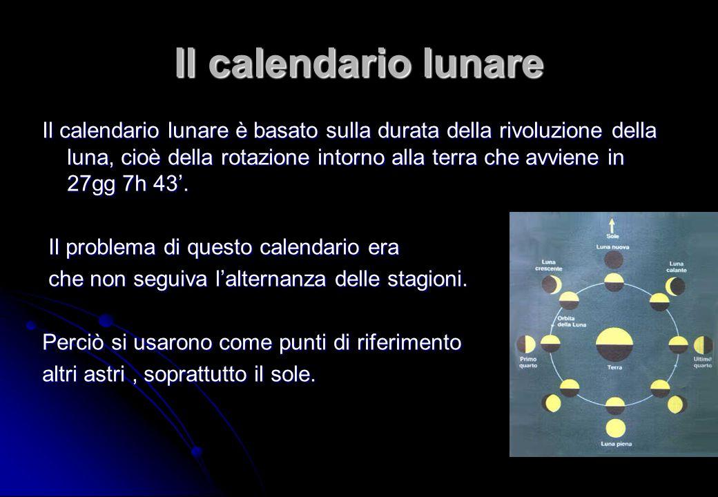 Il Calendario Della Luna.Introduzione Il Calendario Nasce Dall Esigenza Sentita Fin