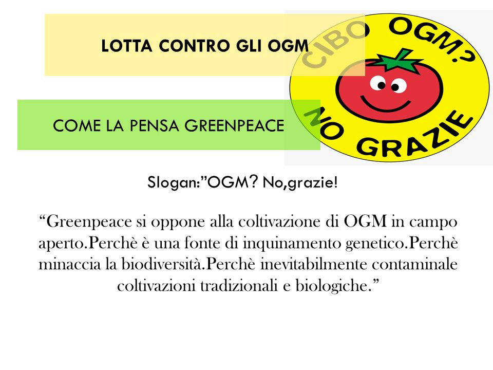 COME LA PENSA GREENPEACE