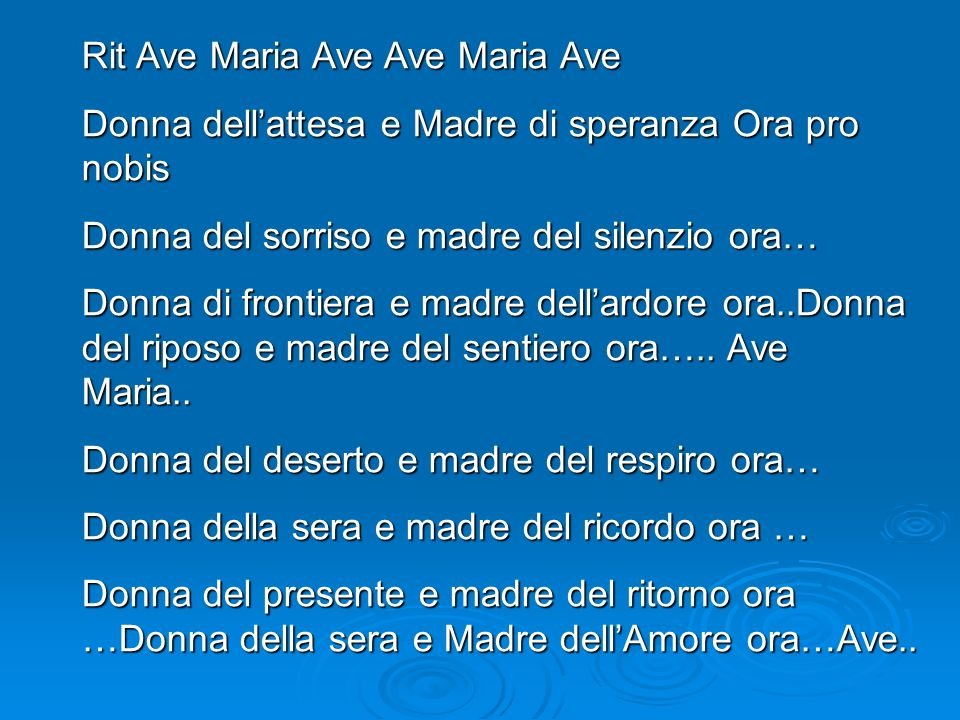 Rit Ave Maria Ave Ave Maria Ave