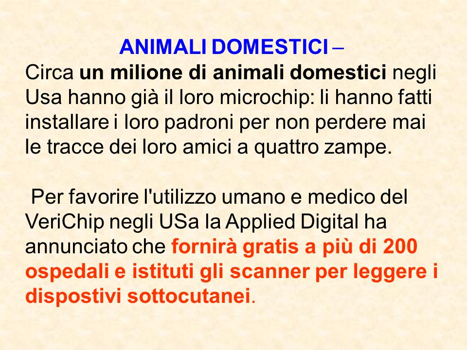ANIMALI DOMESTICI –