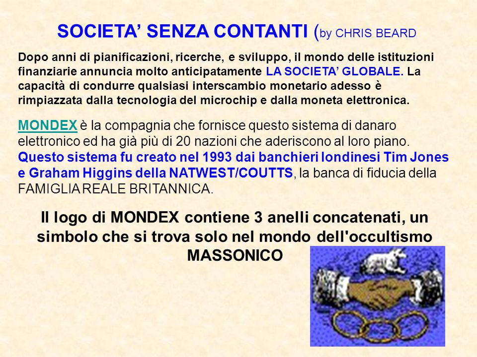 SOCIETA' SENZA CONTANTI (by CHRIS BEARD