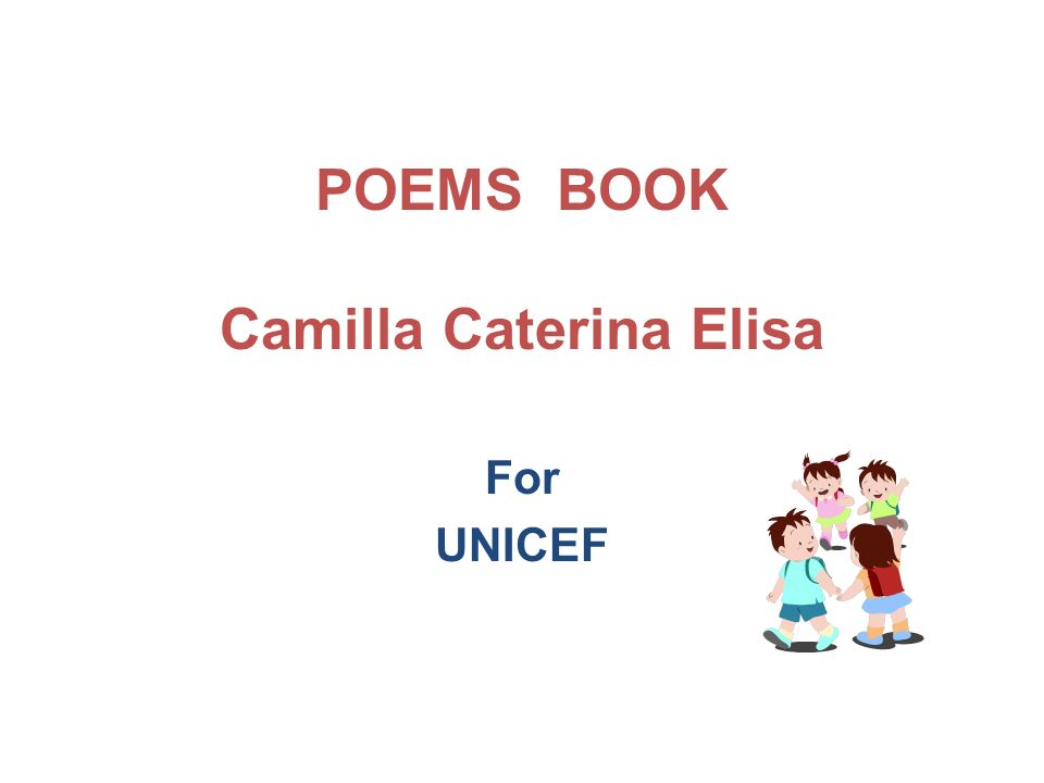 POEMS BOOK Camilla Caterina Elisa