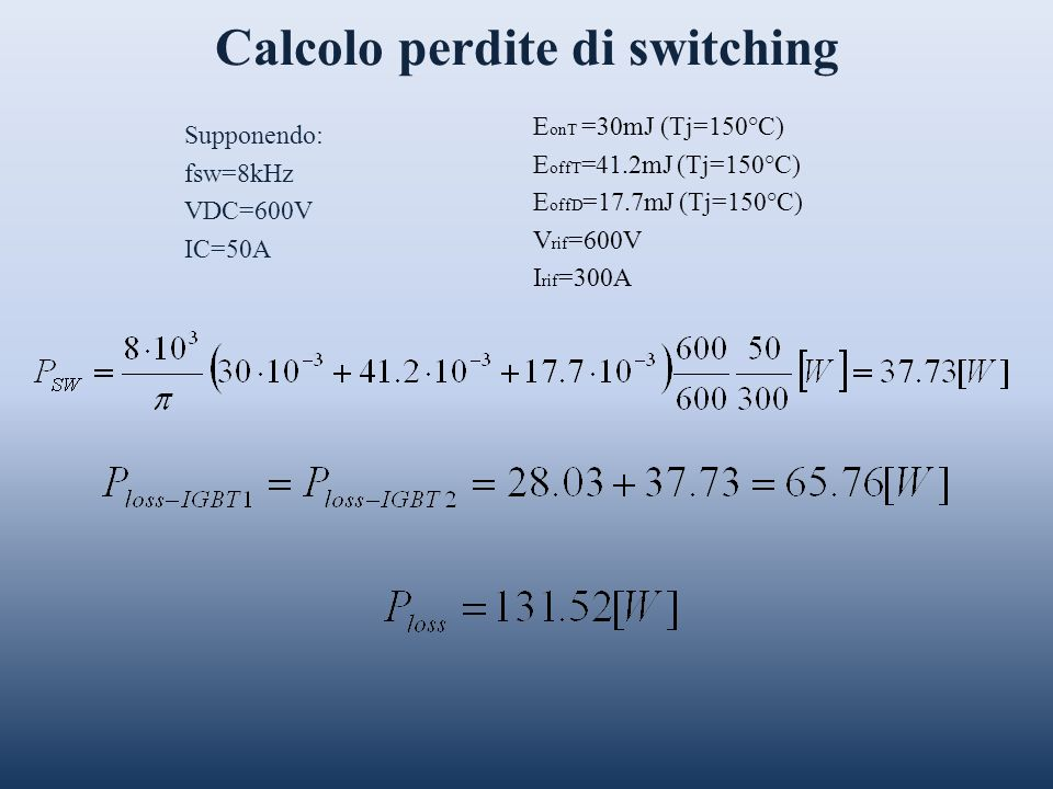 Calcolo perdite di switching