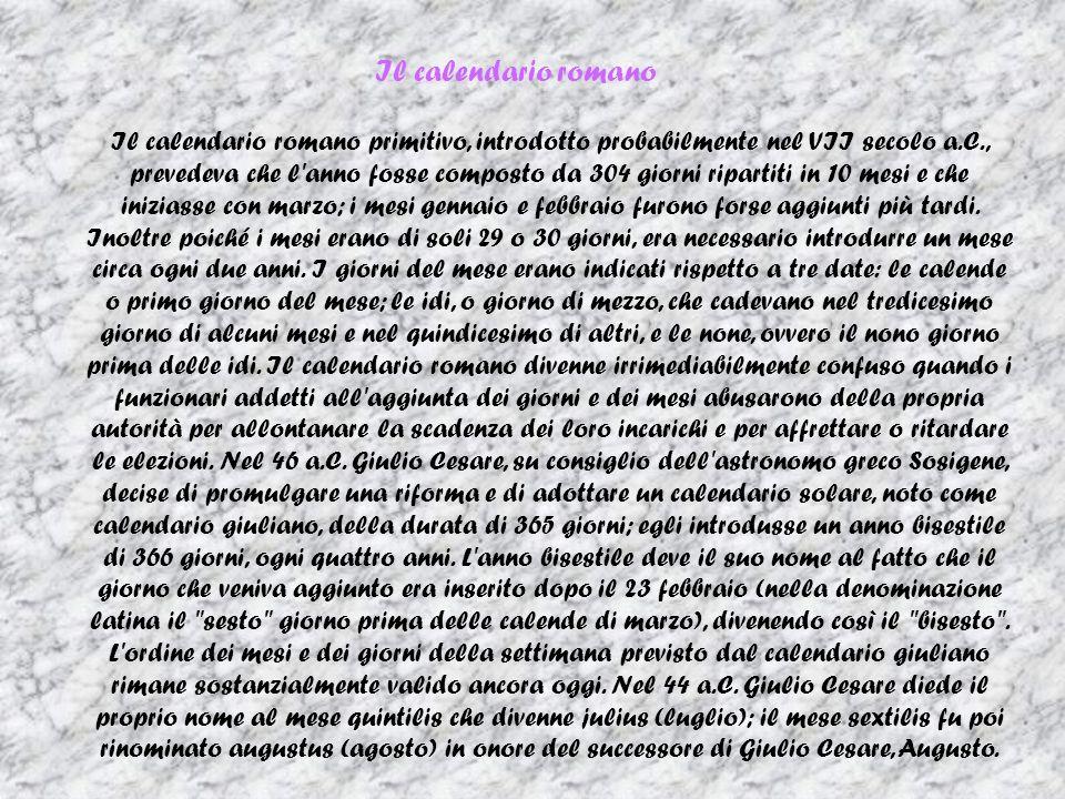 Il Calendario Romano Riassunto.Entriamo A Roma Ppt Scaricare