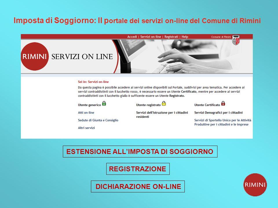 Comune di Rimini Imposta di Soggiorno In vigore dal 1° ottobre ppt ...