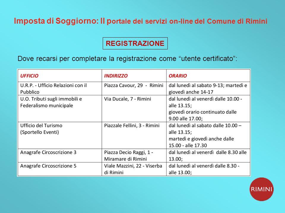 Comune di Rimini Imposta di Soggiorno In vigore dal 1 ...