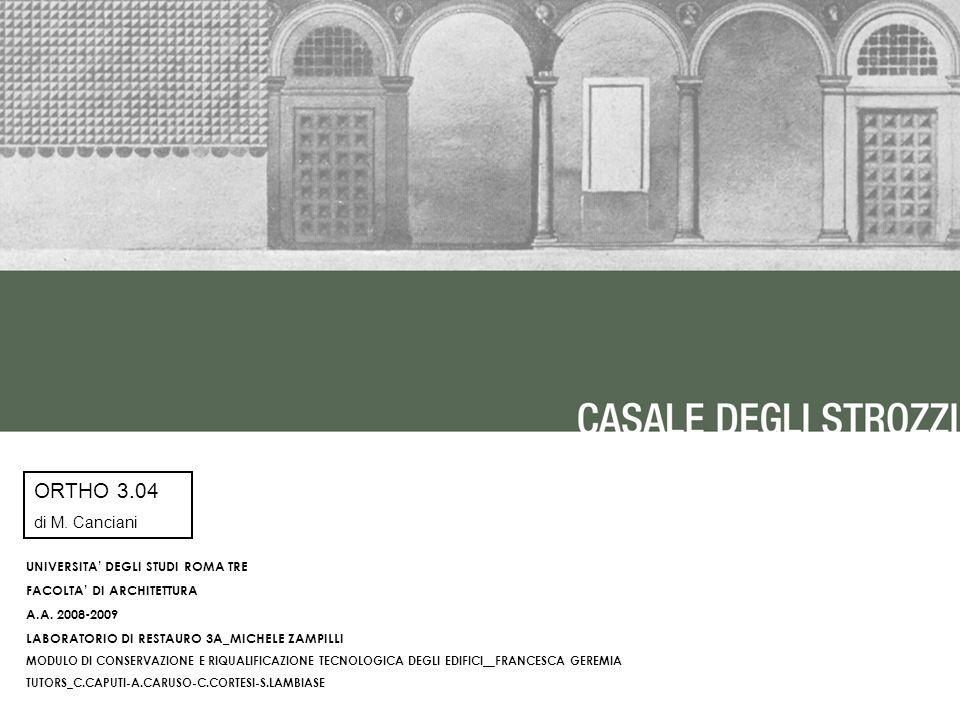 Ortho di m canciani universita degli studi roma tre for Studi di architettura roma