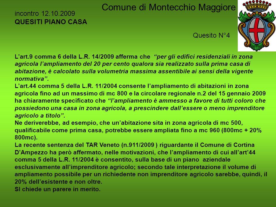 Piano Casa La Legge 14 2009 Comune Di Montecchio Maggiore Ppt