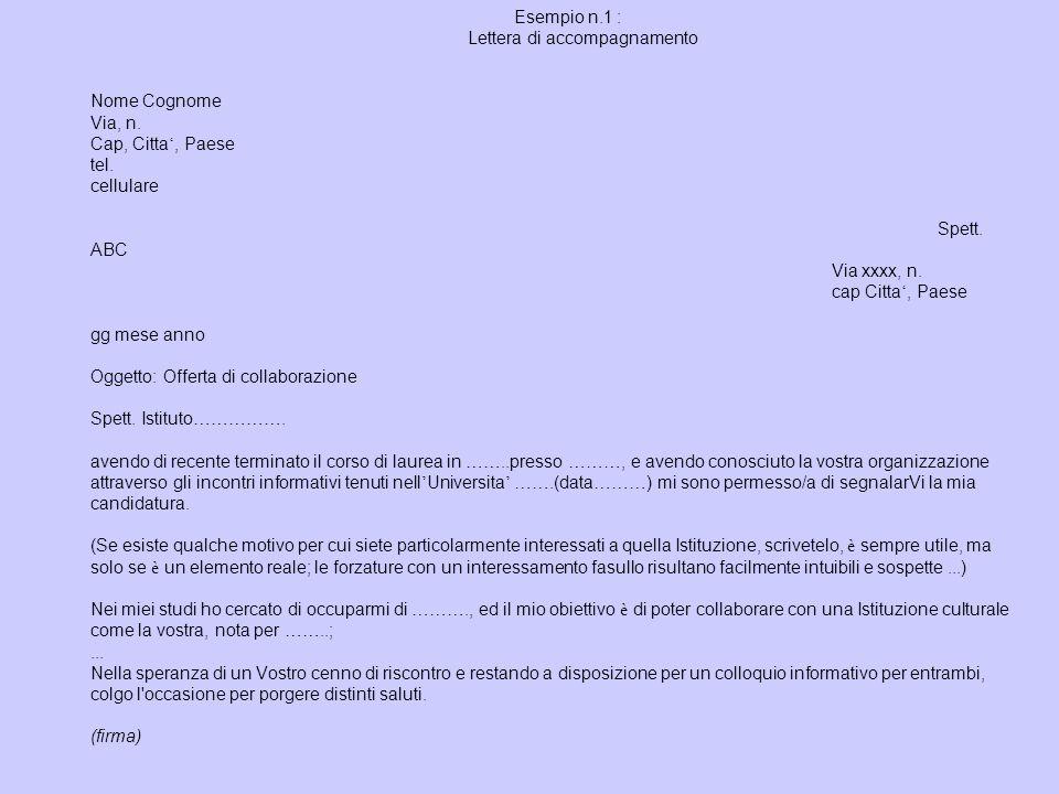 esempio di lettera introduttiva per incontri siti di incontri Internet Canada